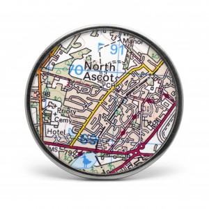 Personalised map  door knob wall hook