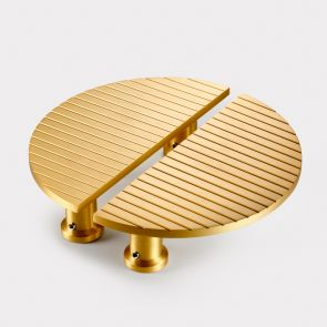 Brass Half Moon Handles - Gold - Stripe