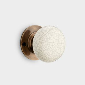 Ceramic Interior Door Knob - Cream Crackled