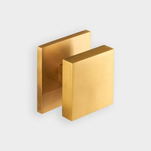 Brass Centre Door Knob - Gold - Square