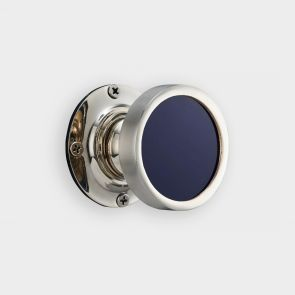 Brass Interior Door Knob - Blue