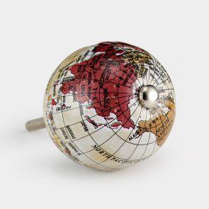 Aluminium Door Knob - Brown / Red - Globe