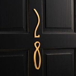 Brass Door Numbers / Letter - Gold