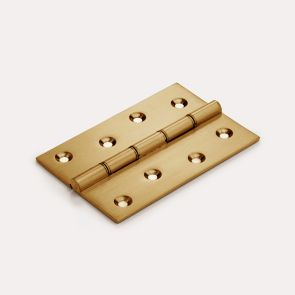 Brass Butt Hinge - Double Bronze Washered - Gold
