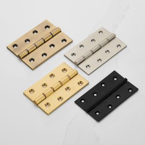 Solid Brass Butt Hinges - Double Bronze Washered - 100mm x 67mm