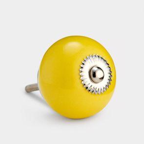 Ceramic Door Knob - Yellow