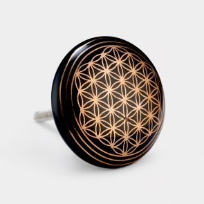 Ceramic Door Knob - Black / Copper