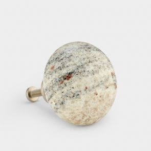 Granite Door Knob - Kashmir White