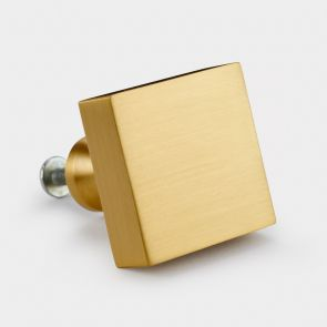 Brass Door Knob - Gold - Square