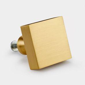 Brass Door Knob - Gold - Square