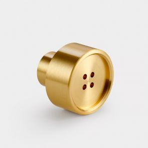 Brass Door Knob - Gold - Button