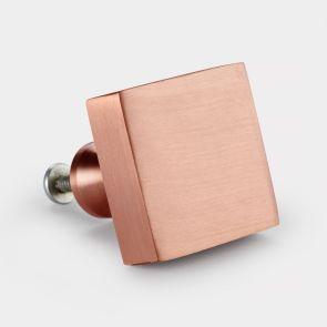Brass Door Knob - Copper - Square