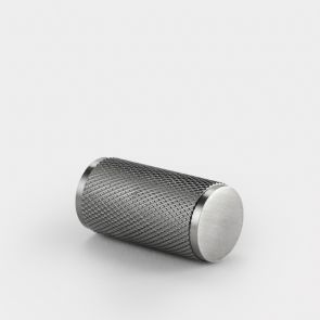 Brass Cylinder Pull - Silver - Knurled