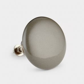 Large Ceramic Door Knob - Dark Grey