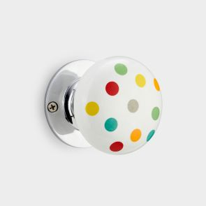 Ceramic Interior Door Knob - Multi - Spot