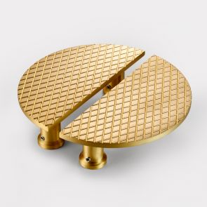 Brass Cabinet Handles - Gold - Diamond