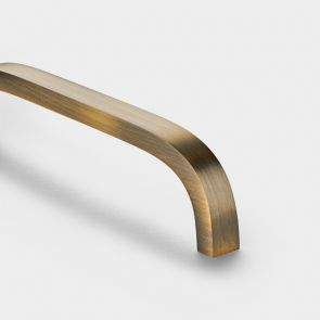 Brass Bar Handles - Antique Gold - Curve