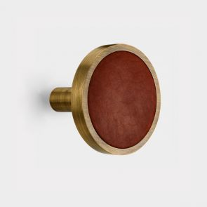 Brass Curtain Tie Backs - Antique Gold - Leather