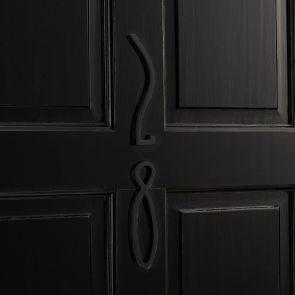 Brass Door Numbers - Matte Black