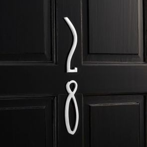 Brass Door Numbers - Chrome