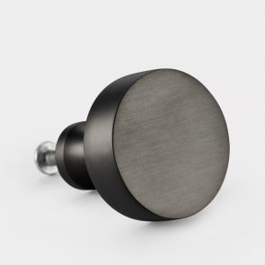 Gunmetal Grey round brass cabinet door knob. Available in 3 different shapes. Brushed finished. Modern & contemporary design
