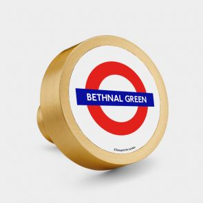 Brass Door Knob - Gold - Official TFL London Tube Stop