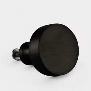 Brass Door Knob - Black - Round