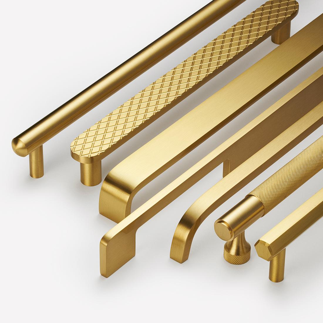Gold Brass Bar Handles